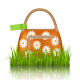Orange Bag with Chamomiles in Grass Lawn - GraphicRiver Item for Sale