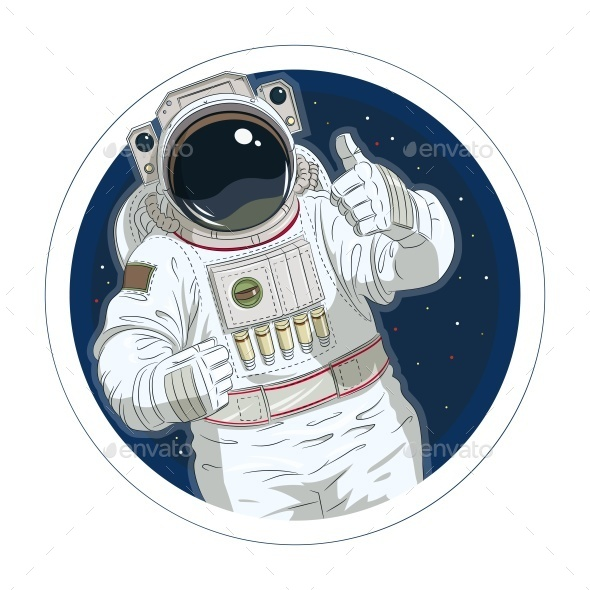 GraphicRiver Astronaut Gesture Okay 11199272