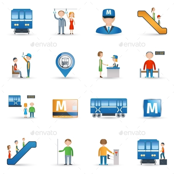 GraphicRiver Subway Icons Set 11199282