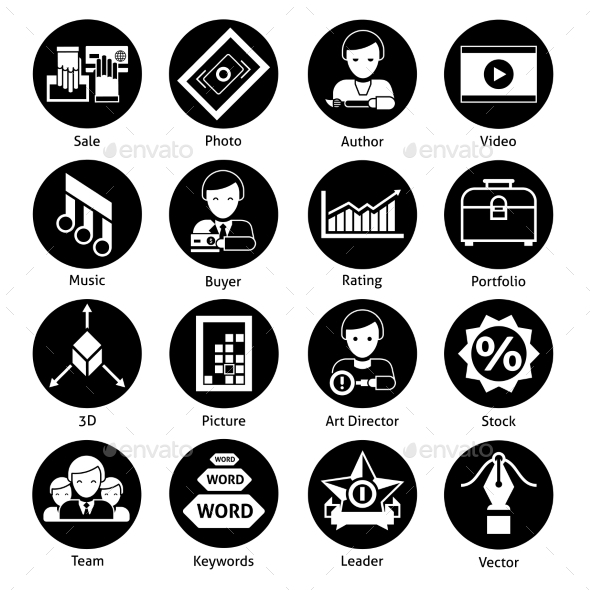 GraphicRiver Stock Icons Black 11199616