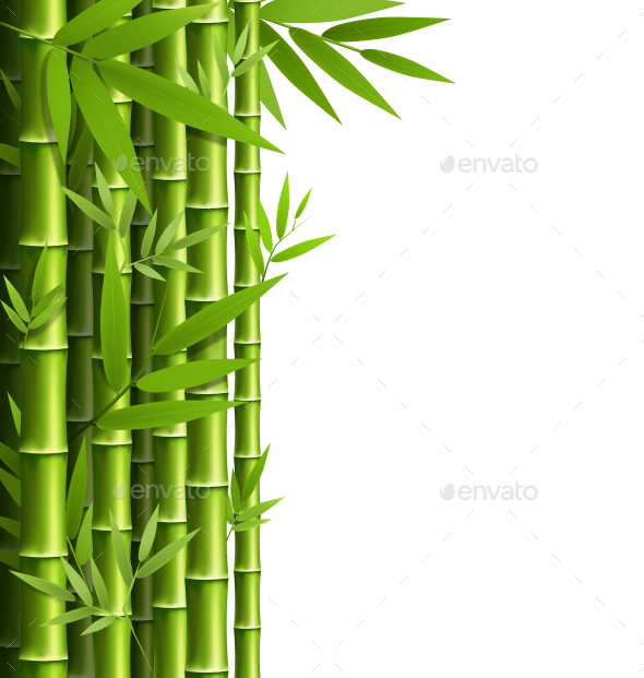 GraphicRiver Green Bamboo Grove 11199642