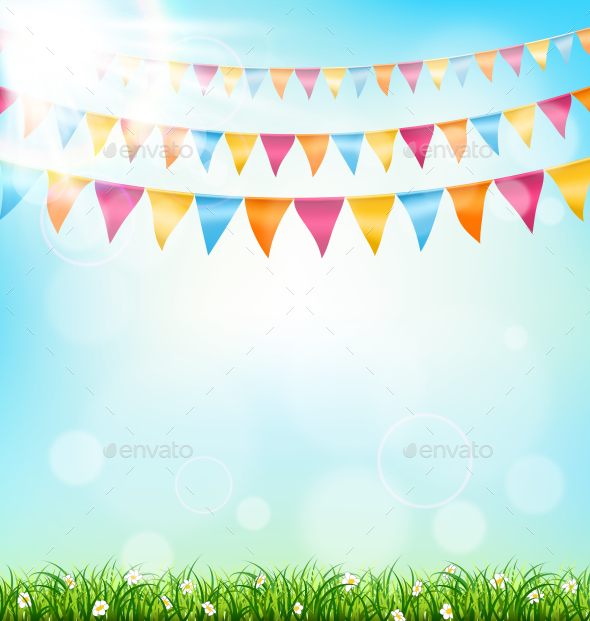 GraphicRiver Celebration Background with Buntings 11199672
