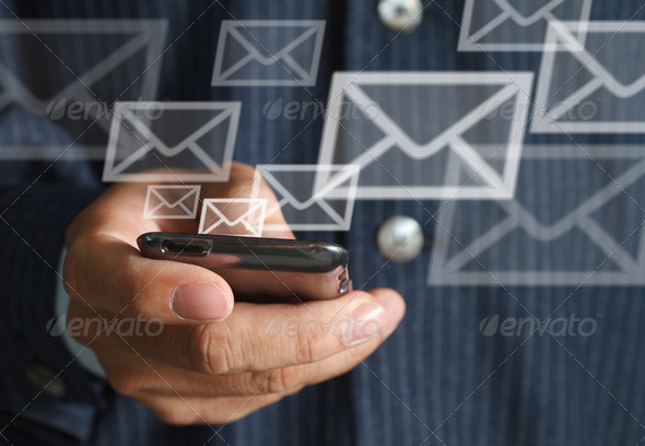 mobile and email - Stock Photo - Images
