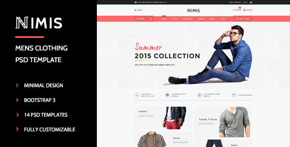 ThemeForest Nimis eCommerce Online Shop PSD Template 11200181