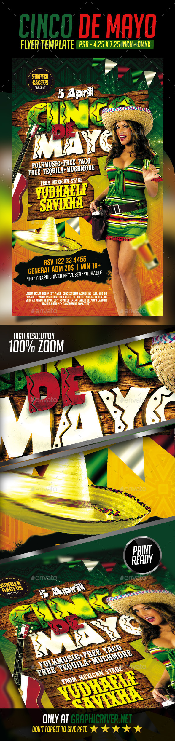 GraphicRiver Cinco De Mayo Flyer 11200303