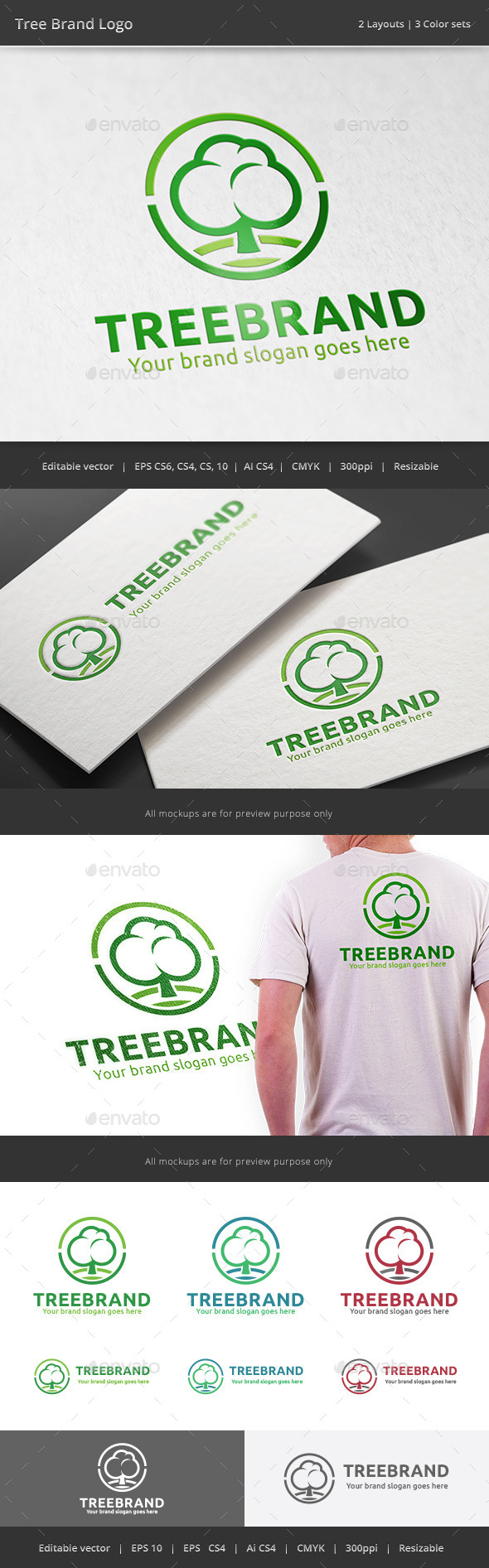 GraphicRiver Tree Brand Logo 11200526