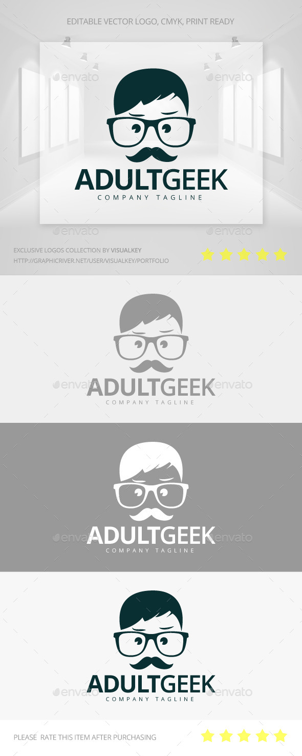 GraphicRiver Adult Geek Logo 11200549