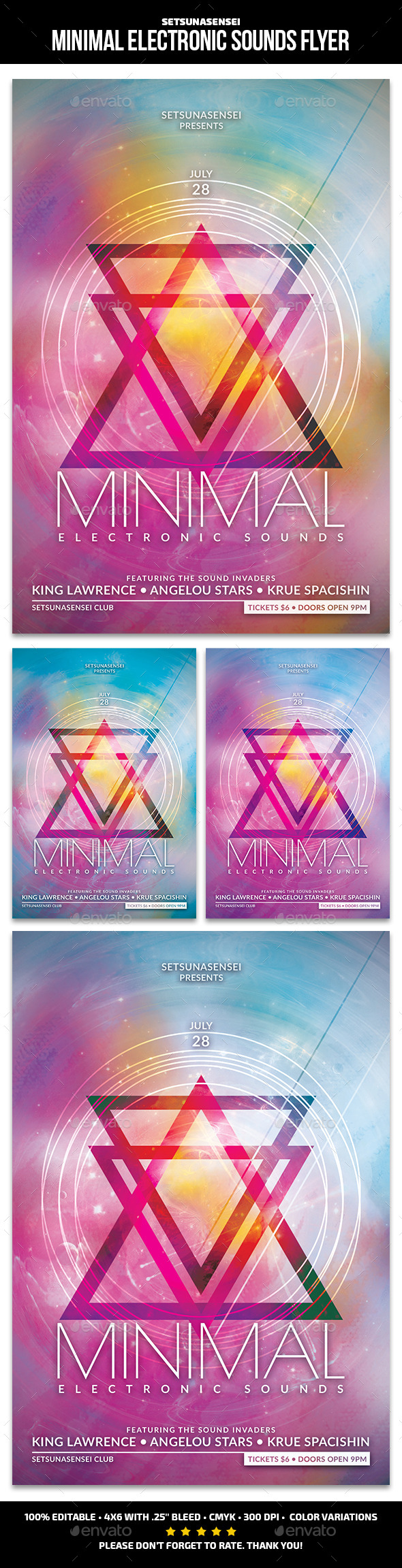 GraphicRiver Minimal Electronic Sounds Flyer 11200619