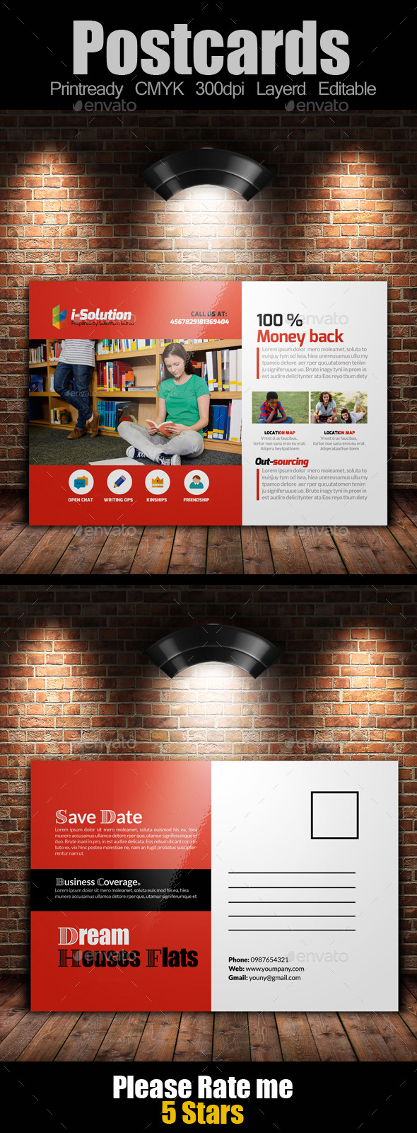 GraphicRiver Education Post Cards Template 11200677