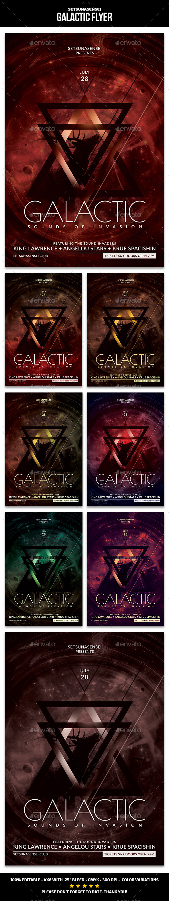 GraphicRiver Galactic Flyer 11175196