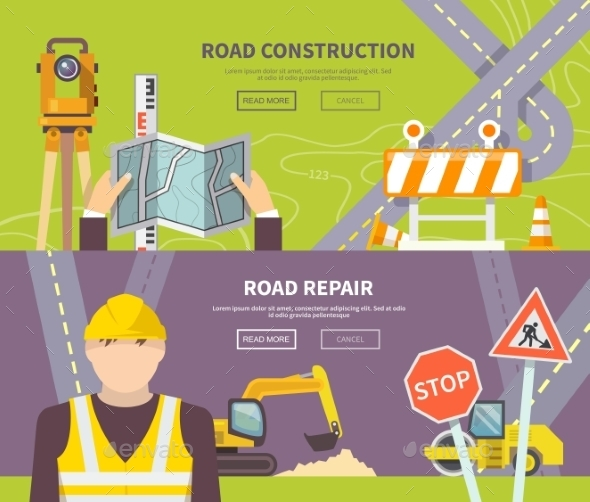 GraphicRiver Road Worker Banner 11200715