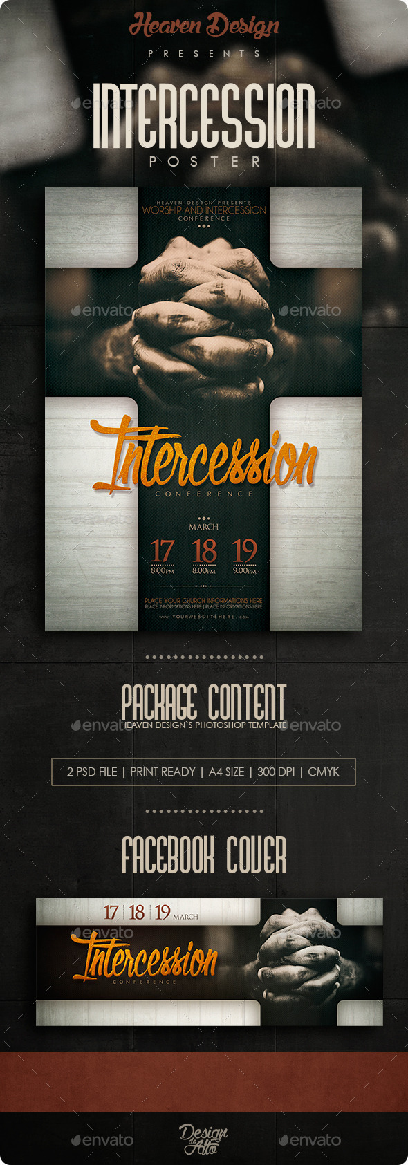 GraphicRiver Intercession Flyer 11200716