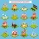 Amusement Park Isometric - GraphicRiver Item for Sale