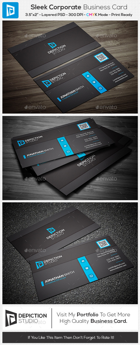 GraphicRiver Sleek Corporate Business Card 11201224