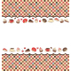 Sweets Frame on Mosaic Background - GraphicRiver Item for Sale