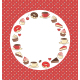 Sweets Circle Frame on Red Background in Dots - GraphicRiver Item for Sale
