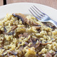 Risotto with mushrooms on plate with fork  - PhotoDune Item for Sale