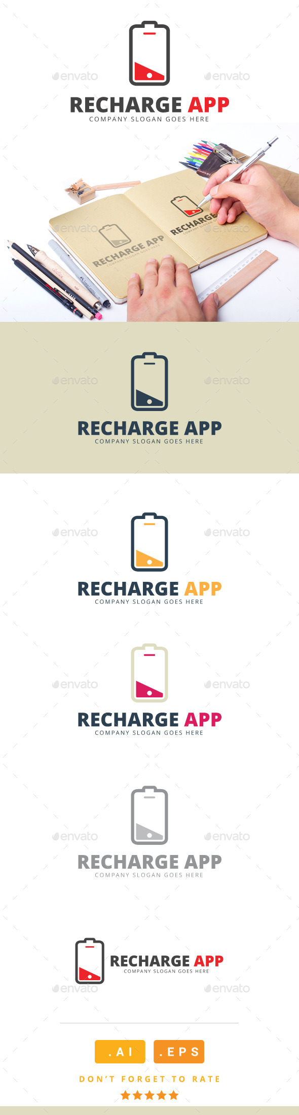 GraphicRiver Recharge App Logo 11201640