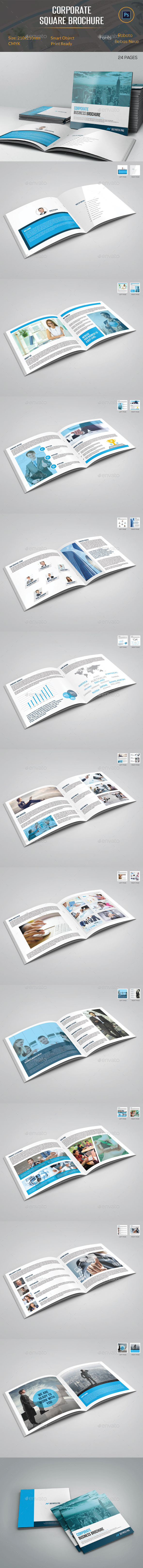 GraphicRiver Corporate Square Brochure 11201745