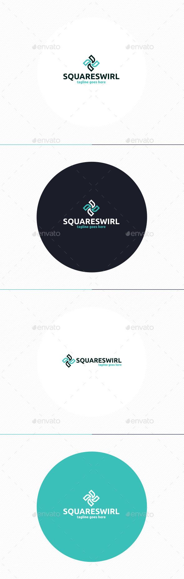 GraphicRiver Square Swirl Logo 11201746