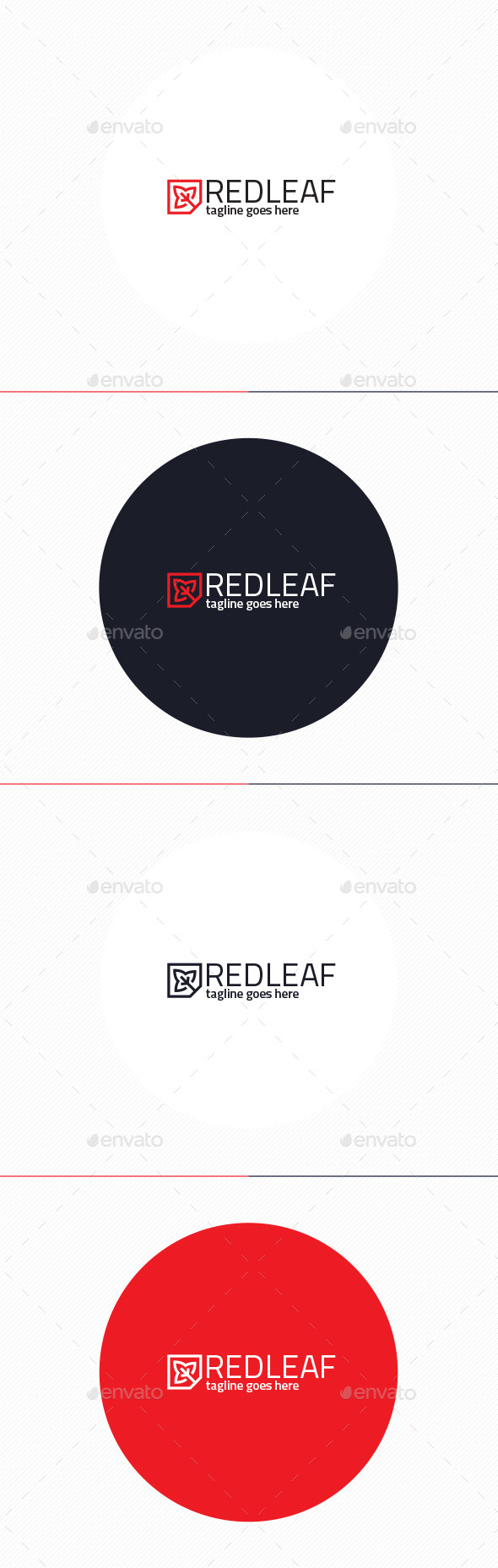 GraphicRiver Red Leaf Logo 11201915
