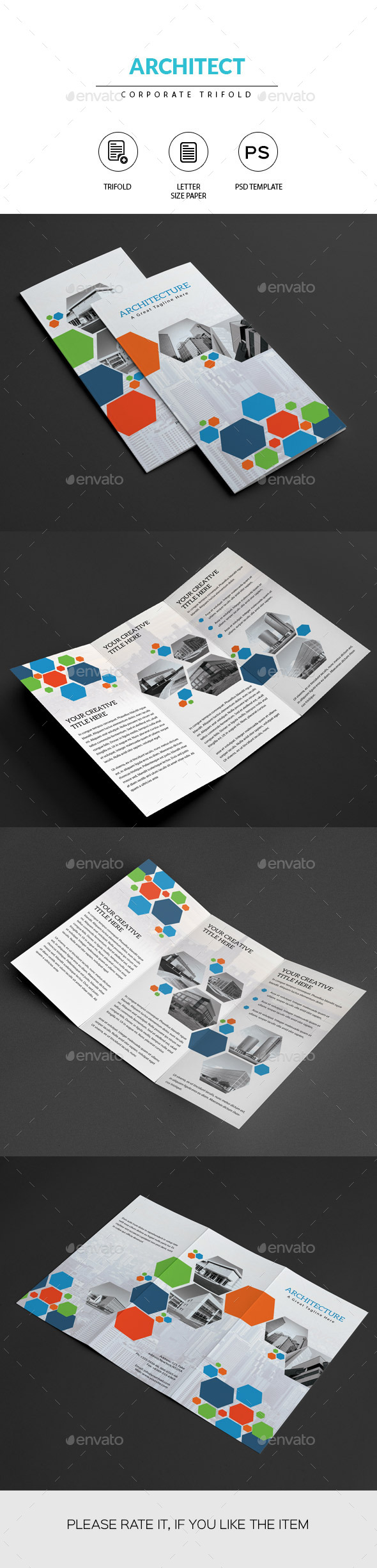 GraphicRiver Architect Trifold Brochure 11202014