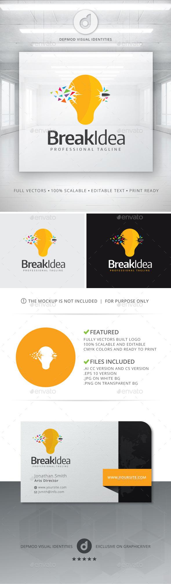 GraphicRiver Break Idea Logo 11202086