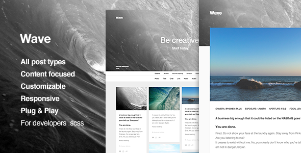 ThemeForest Wave Creative Portfolio Tumblr Theme 11154296
