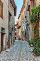 Narrow cobbled streets in the old village Lyuseram, France - PhotoDune Item for Sale