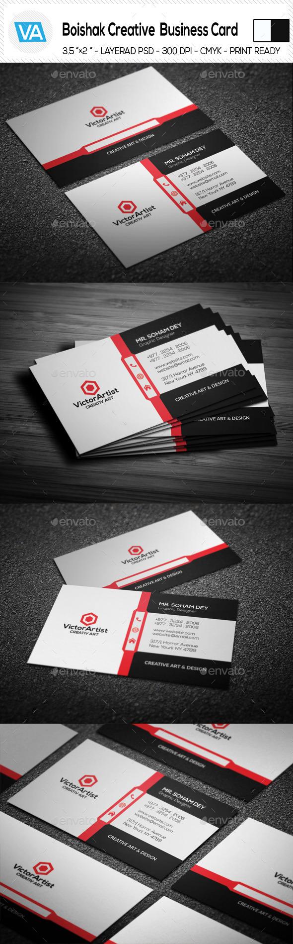 GraphicRiver Boishak Creative Business Card 11202688