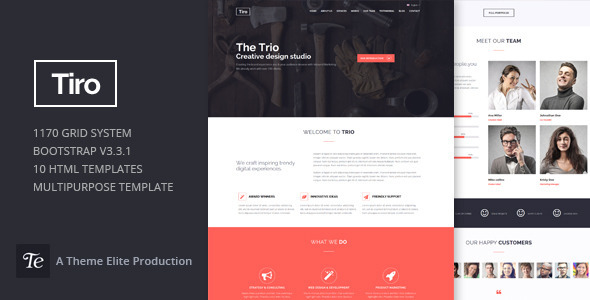 ThemeForest Trio Bootstrap Responsive Multipurpose Template 11176141