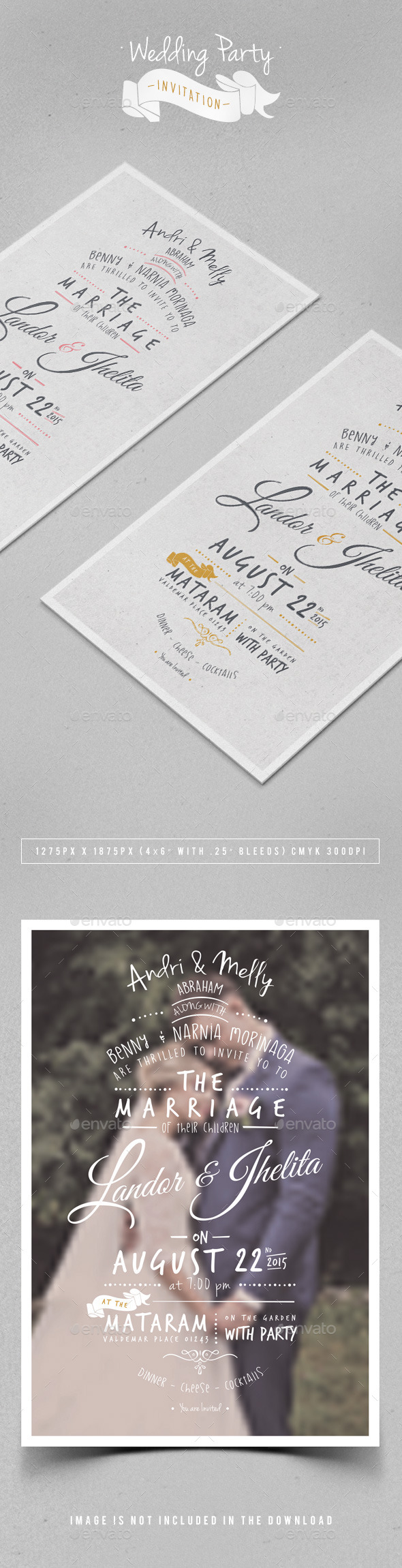 GraphicRiver Wedding Party Invitation 11202730