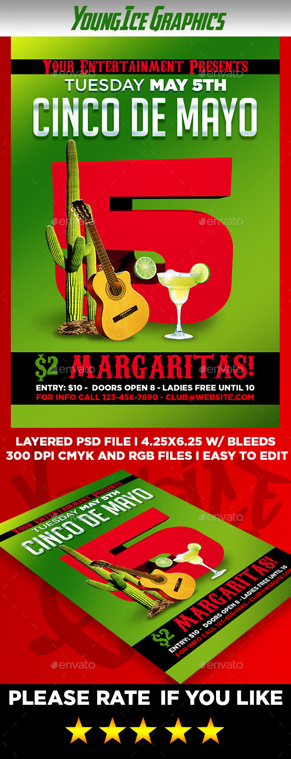 GraphicRiver Cinco De Mayo Flyer Template 11202842