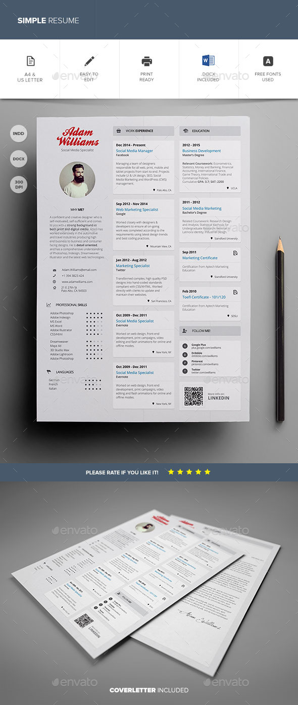 GraphicRiver Simple Resume Vol 3 11177609