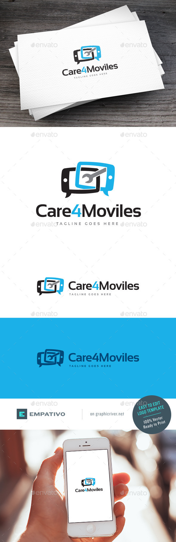 GraphicRiver Care4Moviles Logo Template 11203011