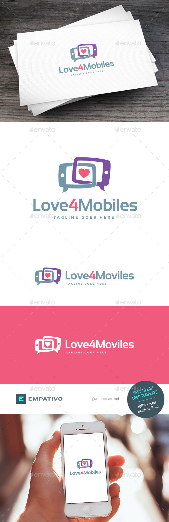 GraphicRiver Love4Mobiles Logo Template 11203021