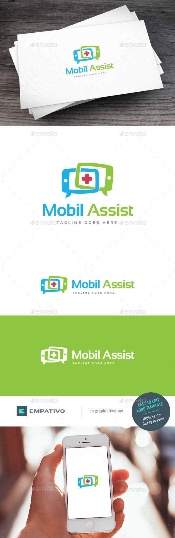 GraphicRiver Mobil Assist Logo Template 11203032