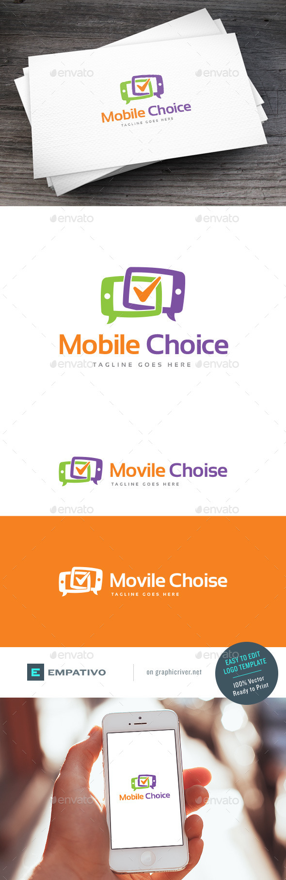 GraphicRiver Mobile Choice Logo Template 11203039