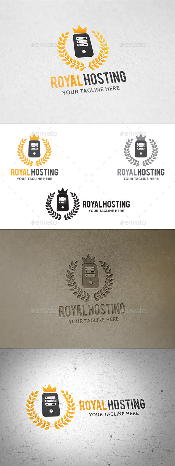 GraphicRiver Royal Hosting Logo Template 11203099
