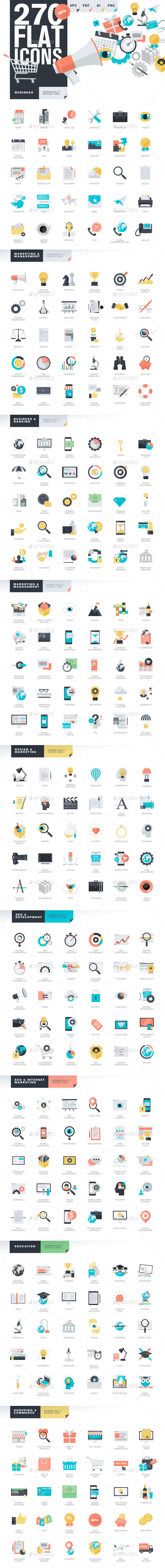 GraphicRiver Modern Flat Design Style Icons 11203276