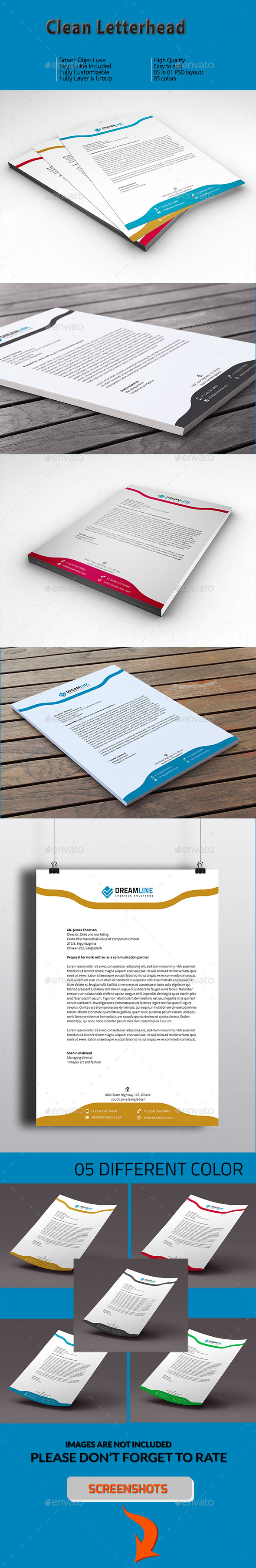 GraphicRiver Clean Letterhead 11203320