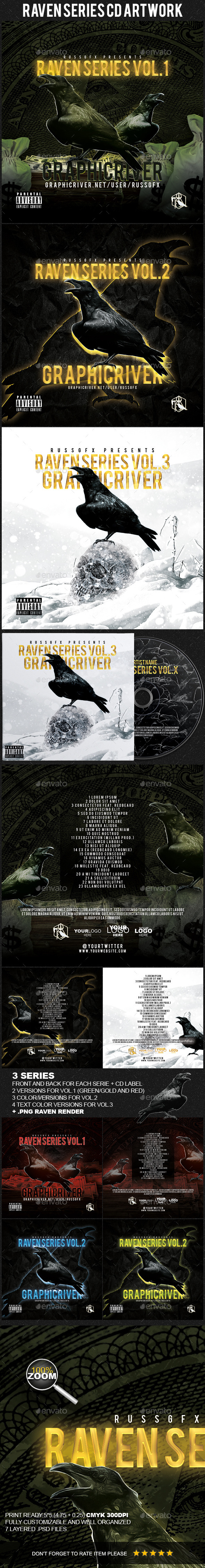 GraphicRiver Raven Series PSD CD Artwork Cover Template 11203352