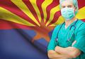 Surgeon with US state flag on background series - Arizona - PhotoDune Item for Sale