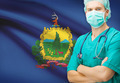 Surgeon with US state flag on background series - Vermont - PhotoDune Item for Sale