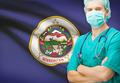 Surgeon with US state flag on background series - Minnesota - PhotoDune Item for Sale
