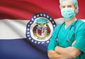 Surgeon with US state flag on background series - Missouri - PhotoDune Item for Sale