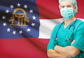 Surgeon with US state flag on background series - Georgia - PhotoDune Item for Sale