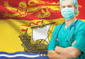 Surgeon with Canadian privinces flag on background series - New Brunswick - PhotoDune Item for Sale