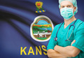 Surgeon with US state flag on background series - Kansas - PhotoDune Item for Sale