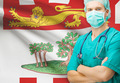 Surgeon with Canadian privinces flag on background series - Prince Edward Island - PhotoDune Item for Sale
